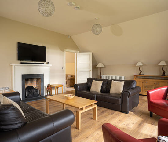 Lodge Living Rom with TV